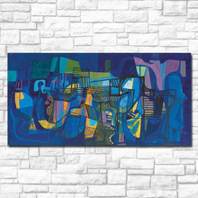 Whole Hand Painted Roberto Burle-Marx - Untitled Oil Painting Modern Wall Art Canvas Poster