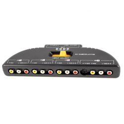 4-Way Аудио Видео AV коммутатор с разъемами тюльпан игры селектор разветвительная коробка черный