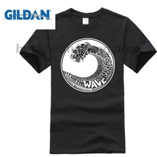GILDAN Surfer Wave T Shirt   Surfer  Hawaii Kite Bali Summer Cool Gift Top Men Tee Shirt Tops Short Sleeve Cotton Fitness Tee dog surfer printed cartoon tee