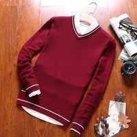 Varsanol Warm 100% Cotton Sweater Men Knit Pullovers Homme O Neck Man Sweater Coat Winter Casual Long Sleeve Sweaters Male Tops