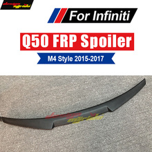 For Infiniti Q50 Q50S Spoiler Rear Trunk Lip Wing M Style FRP Primer black Tail Lid Boot 2015-2017