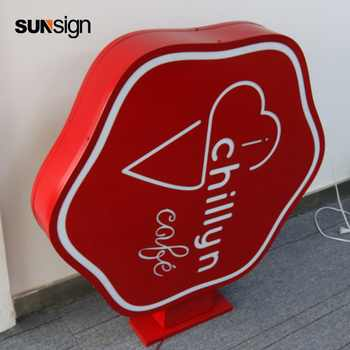 double sided led light box stainless steel acrylic material outdoor advertising signage - SALE ITEM All Category