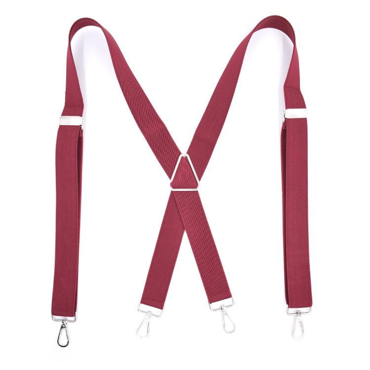 2019 New Adult 4 Clip Men's Hook Strap Black Triangle Strap Clip Iron Triangle Hook High Quality Suspender Belt Adjustable