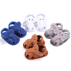 WONBO первые шаги малышей Детская полиуретановая обувь с изображением слона Повседневное мокасины для новорожденных мягкая обувь для самых