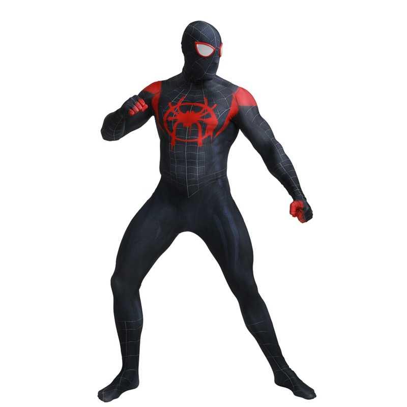 Người lớn Marvel Điện Ảnh Siêu Anh Hùng Vũ Trụ Song Song Ác Đen Spiderman Zentai Phù Hợp Với Halloween Trang Phục Hóa Trang