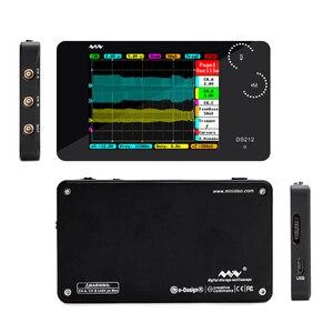 Image 3 - DS212 osd przenośny 2 kanałowy oscyloskop cyfrowy kieszonkowy rozmiar interfejs USB w pełnym kolorze wyświetlacz TFT 8MB pamięć szerokość pasma