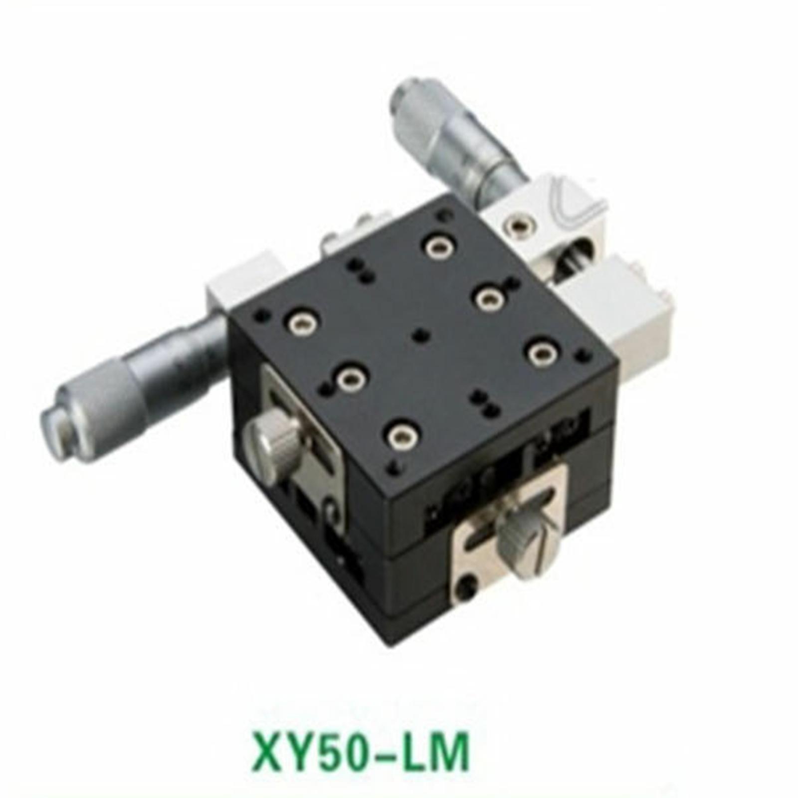 XY Axis 50X50mm Platform Precision Bearing Linear Stage Left MicrometerXY Axis 50X50mm Platform Precision Bearing Linear Stage Left Micrometer