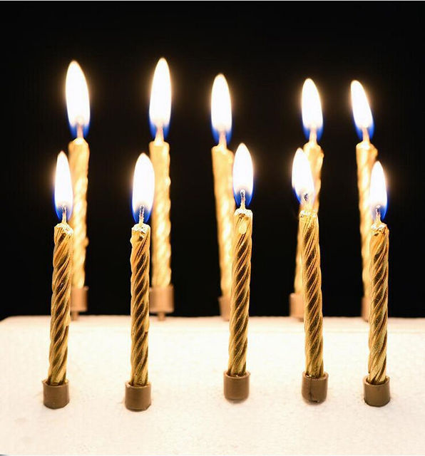 Hot 5Pcs Set Happy Birthday Party Gold Silver Decor Candles Funny Wedding Xmas Decoration