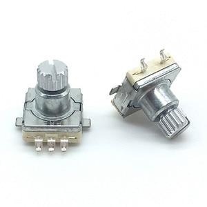 2 шт./лот EC11 поворотный кодовый переключатель, 30 позиций с кнопочным переключателем SMD Тип 5pin длина ручки 9,5 мм сливовый вал