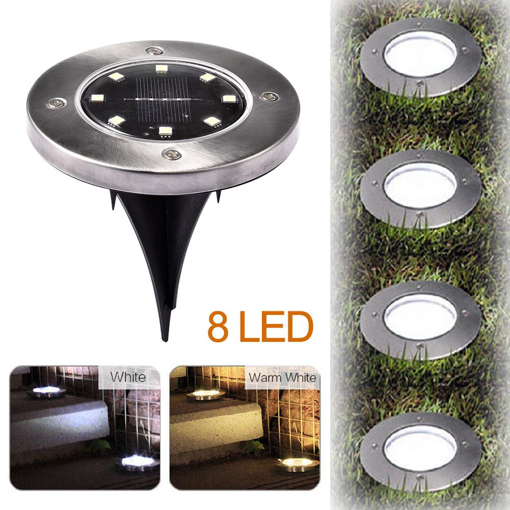 ABS Refreshing Garden LED Underground Solar Lamp Diode Light IP65 100mA 2V With 600mAh Ni-MH AAA Rechargeable Battery