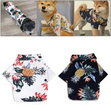 Spring And Summer Pet Dog Printed Cotton Shirt Super Soft Small Medium-sized Teddy Shiba Inu Clothes Not Easy To Fall Of