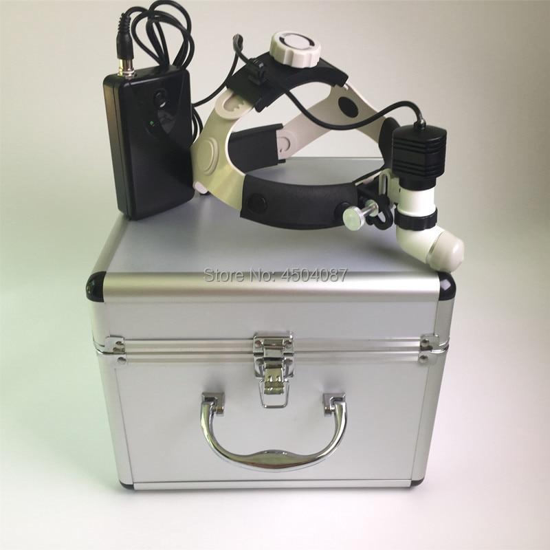 Medical Headlight 5W LED Headlamp Dental Surgical Brightness Adjustment Aluminum Box