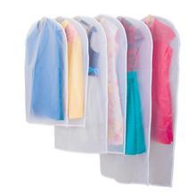 PEVA пылезащитный чехол прозрачный для домашнего хранения непромокаемая одежда Пылезащитная сумка костюм Cheongsam пуховик брюки подвесная сумка