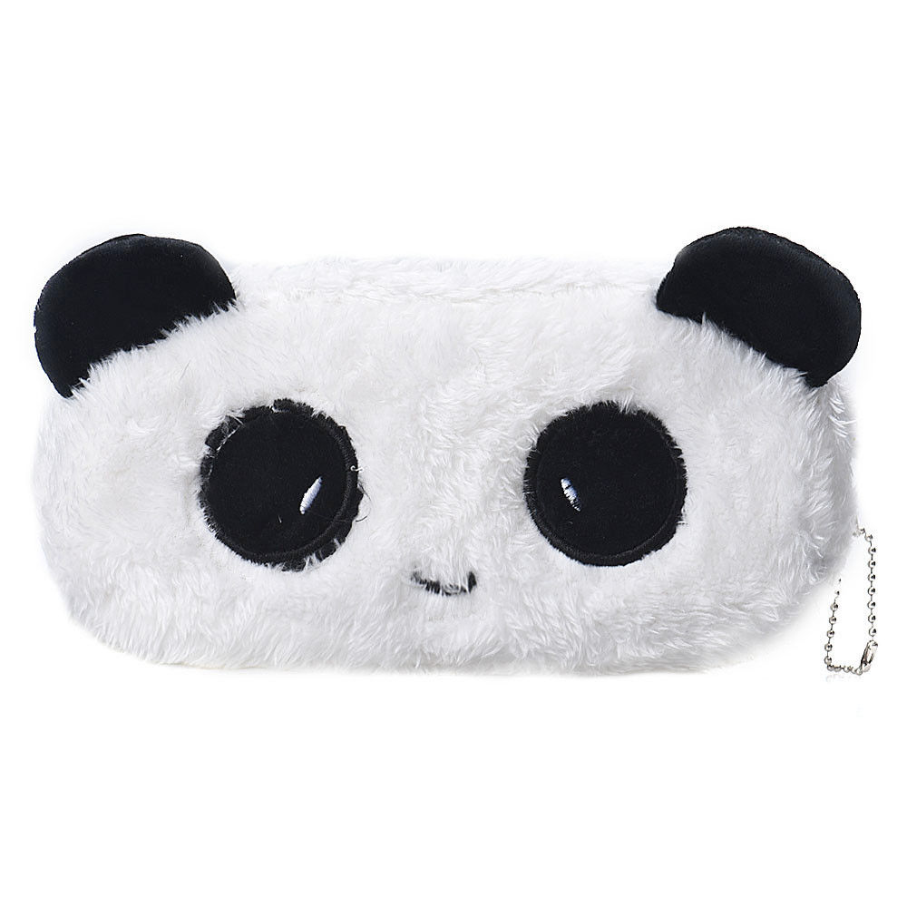 Kids Cartoon Pencil Case Plush Large Pen Bag Cosmetic Makeup Cartoon Storage Bag Panda