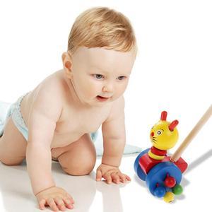 Image 3 - Bebê única barra coagente novo pato carro dos desenhos animados animais carrinho de madeira carrinho de criança criança criança colocando puzzle brinquedos