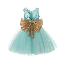 Princess Girl Wear Sleeveless Bow Dress For Baby Girls Birthday Party Toddler Costume Summer For Events Occasion Vestidos Infant new 2016 summer sweet girls colorful rainbow beach wear dress sleeveless for children toddler to teenage vestidos bebe