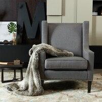 Простой сплошной цвет современное кресло диван гостиная диван для домашнего декора 29,3*28,7*39,6 дюймов