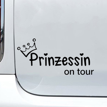 Car Sticker Travel Crown Girl Princess Heart Vinyl Packaging Accessories Product Decal Decoration