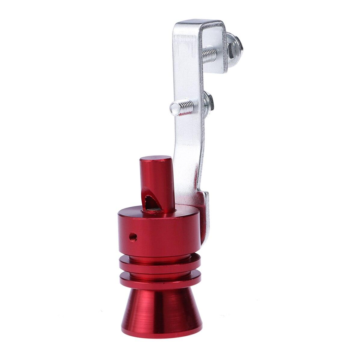 Eficiente Simulador De Válvula De Soplado De Tubo De Escape De Sonido Turbo De Aleación De Aluminio Para Coche Tamaño L (rojo)
