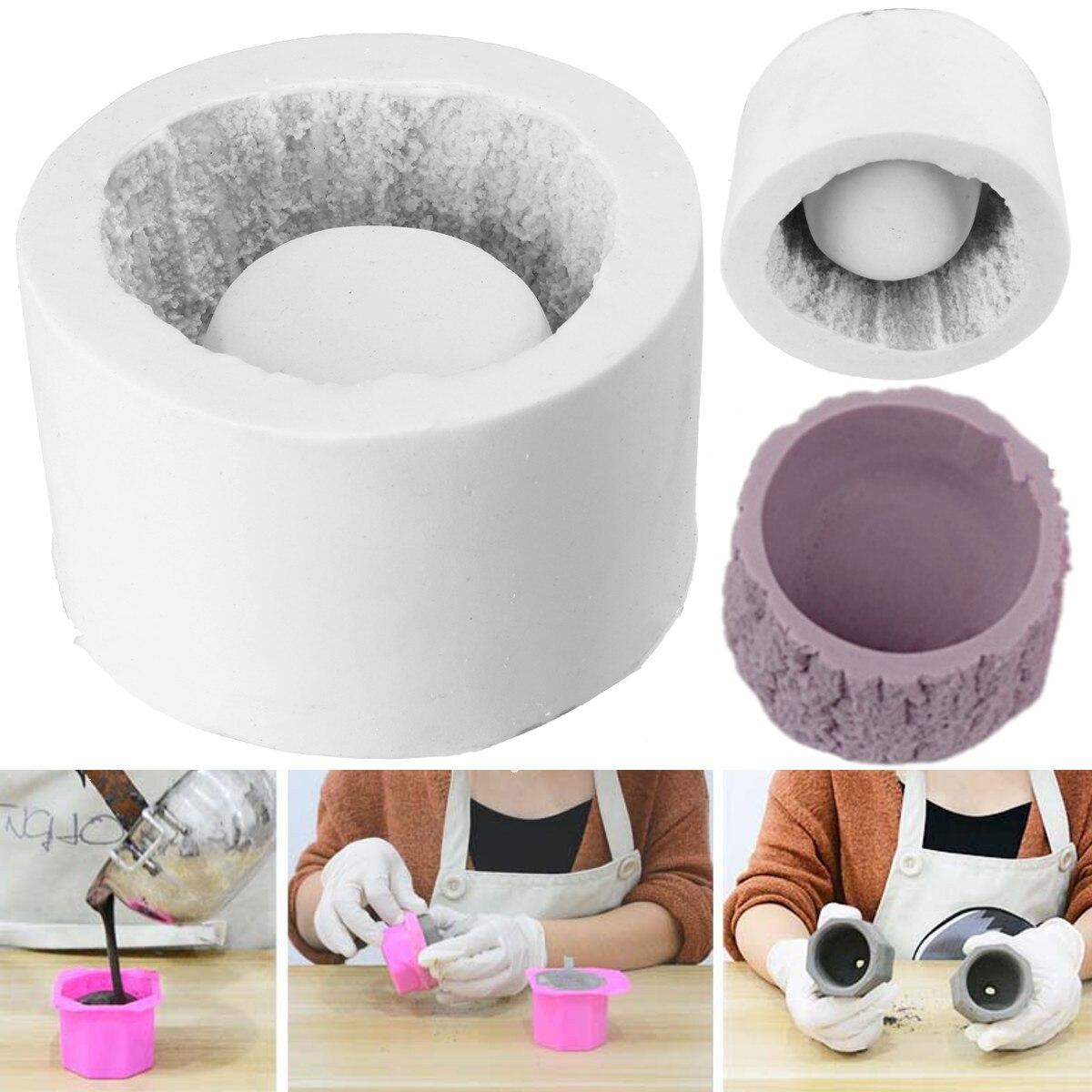DIY Plaster Cement 3D Silicone Soap Mold Flowerpot Planter Concrete Craft Mould