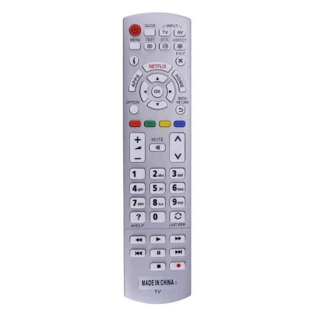 Replacement for Panasonic N2QAYB001010 N2QAYB001011 Remote Control Silver