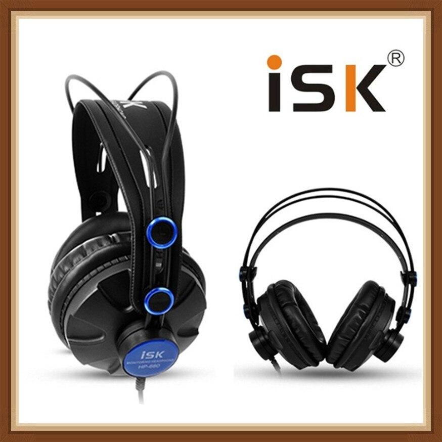 ISK HP680 dynamique 1200 mW puissant sur l'oreille écouteurs suppression de bruit HiFi casque auriculaires Pro moniteur Studio DJ casque