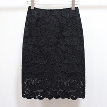 Summer Women Lace Skirt Sexy Black High Waist Bodycon Pencil Skirts Casual Package Hip Female Saia Mujer Plus Size genelec 8260 450b