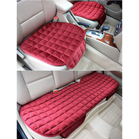1 Set Breathable PU Leather Cotton Car Seat Cover Pad Mat For Auto Chair Cushion