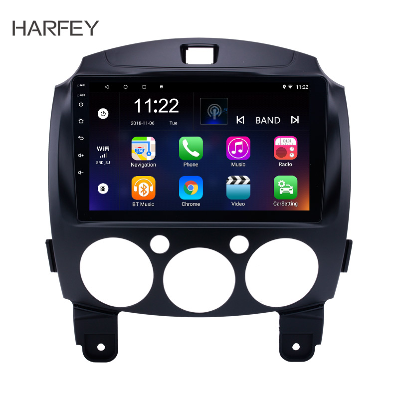 Harfey Android 8 1 7 1 9 2Din Car Radio For MAZDA 2 Jinxiang DE Third
