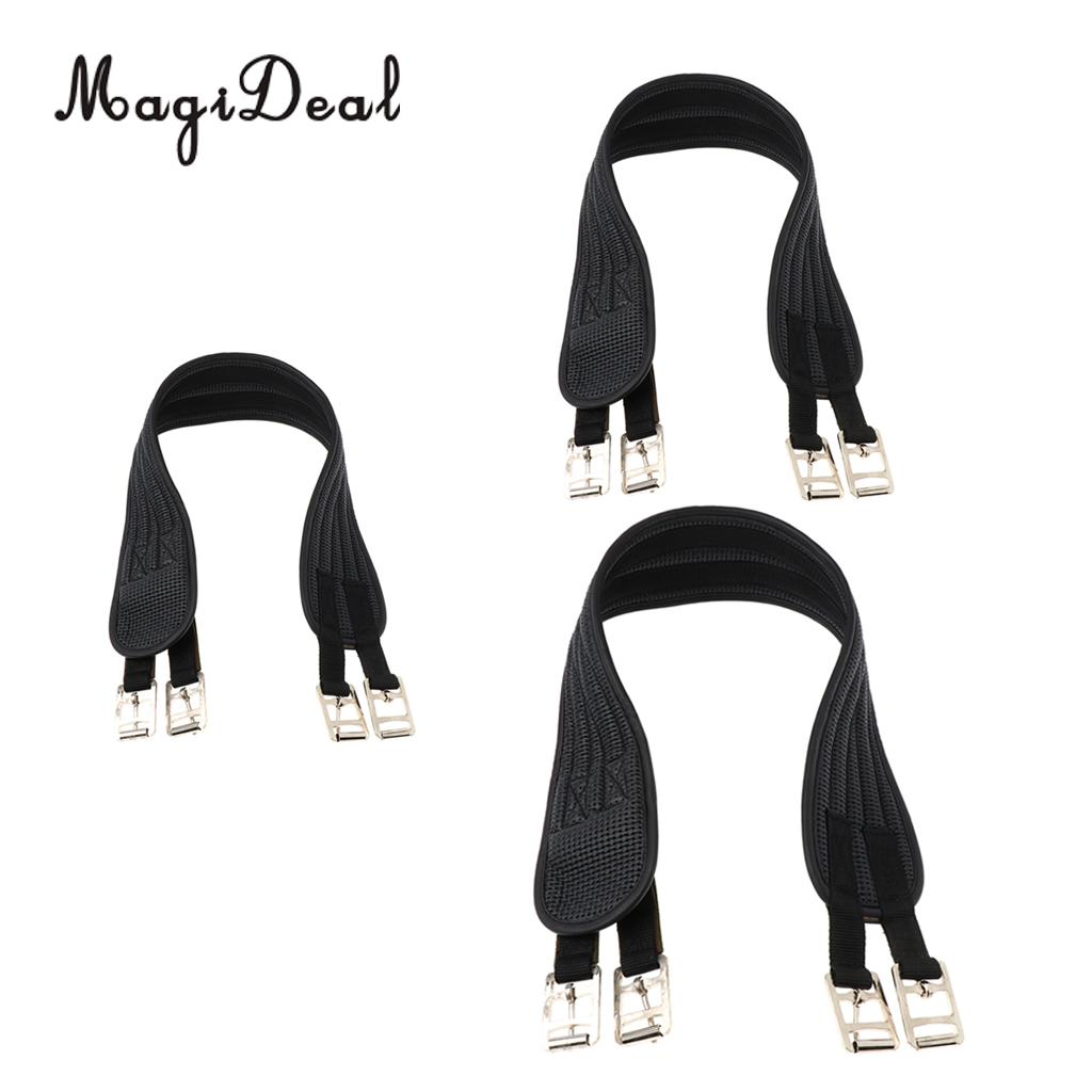 MagiDeal Equestrian Non Slide Horse Girth With Strap Pony Belly Cinch Buckle 100cm 120cm 130cm