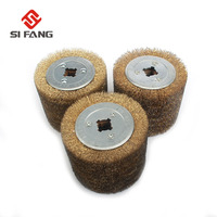 Steel Wire Drawing Polishing Burnishing Wheel Steel Wire Brush Wheel 0.15mm/0.3mm/0.5mm For The metal Surface Treatment