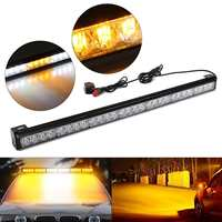 31inch 28 LED Emergency Light Bar for 12V Car Vehicle with Switch Amber White Color Flash Led Professional Light