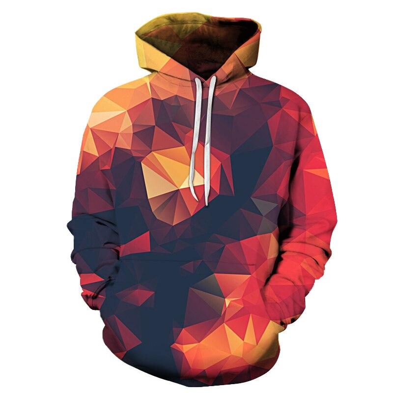 3d Hooded Sweatshirt Colorful Triangle Combination Print Men/Women SpaceGalaxy Pul LoverHoodies Sweatshirts Hoodie Sweatshirt