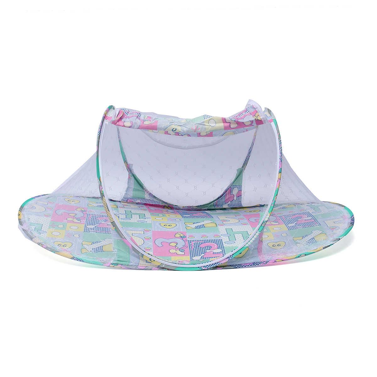 Складной мультфильм для маленьких детей сетки от комаров Ger балдахин на кровать матрас милый 110x60x38 см розовый зеленый палатка путешествия