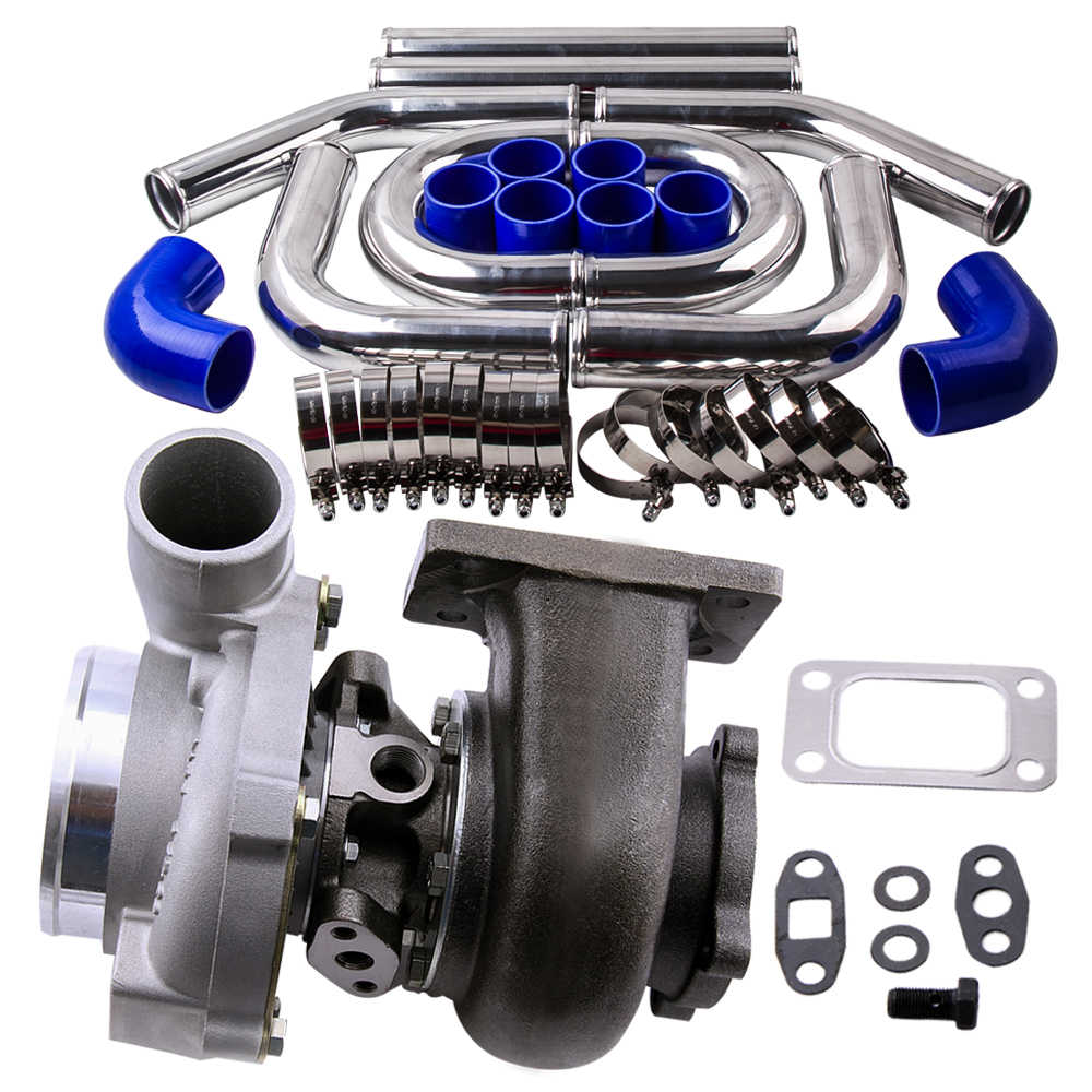 GT30 GT3076 GT3037 Turbohcarger + интеркулер турбо трубопровод набор 18 ''Длина