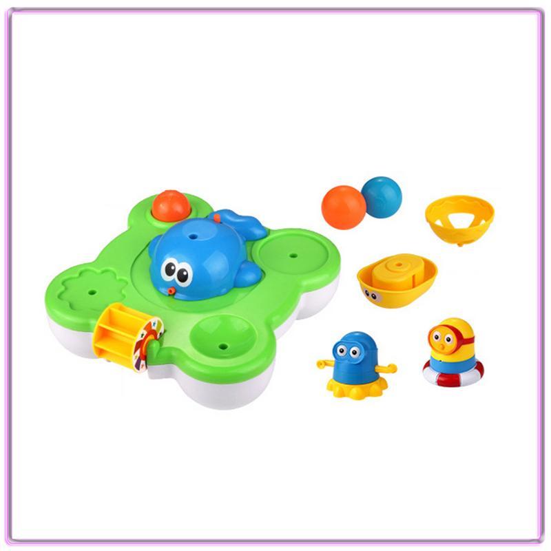 Bébé mignon motif coloré baleine jouer parc aquatique électrique bain jouet natation enfants eau Spray jouet