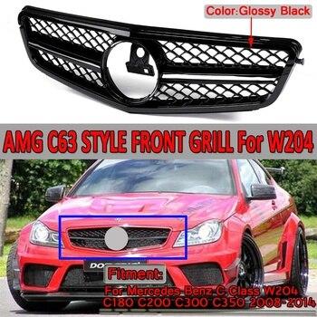 W204 C63 gril de calandre avant de voiture pour Mercedes pour Benz C classe W204 C180 C200 C300 C350 2008-2014 pour AMG C63 Style