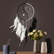 Taiji pattern dream catcher black  white car hanging decoration creative home Chinese style