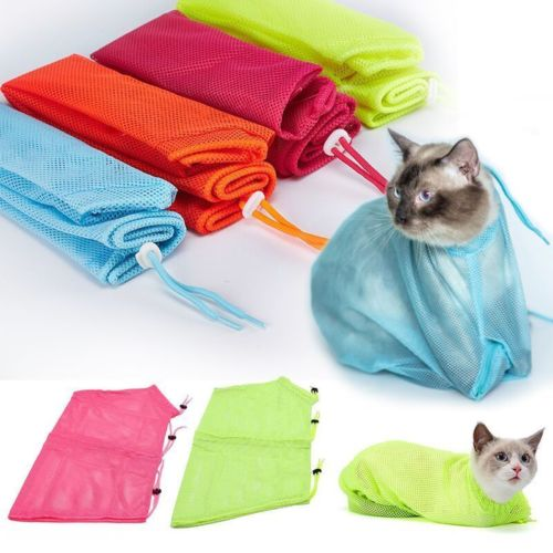 Pet Cat Grooming Restraint Bag Nails Cutting Washing Bathing Scratching Protector Mesh Portable Products