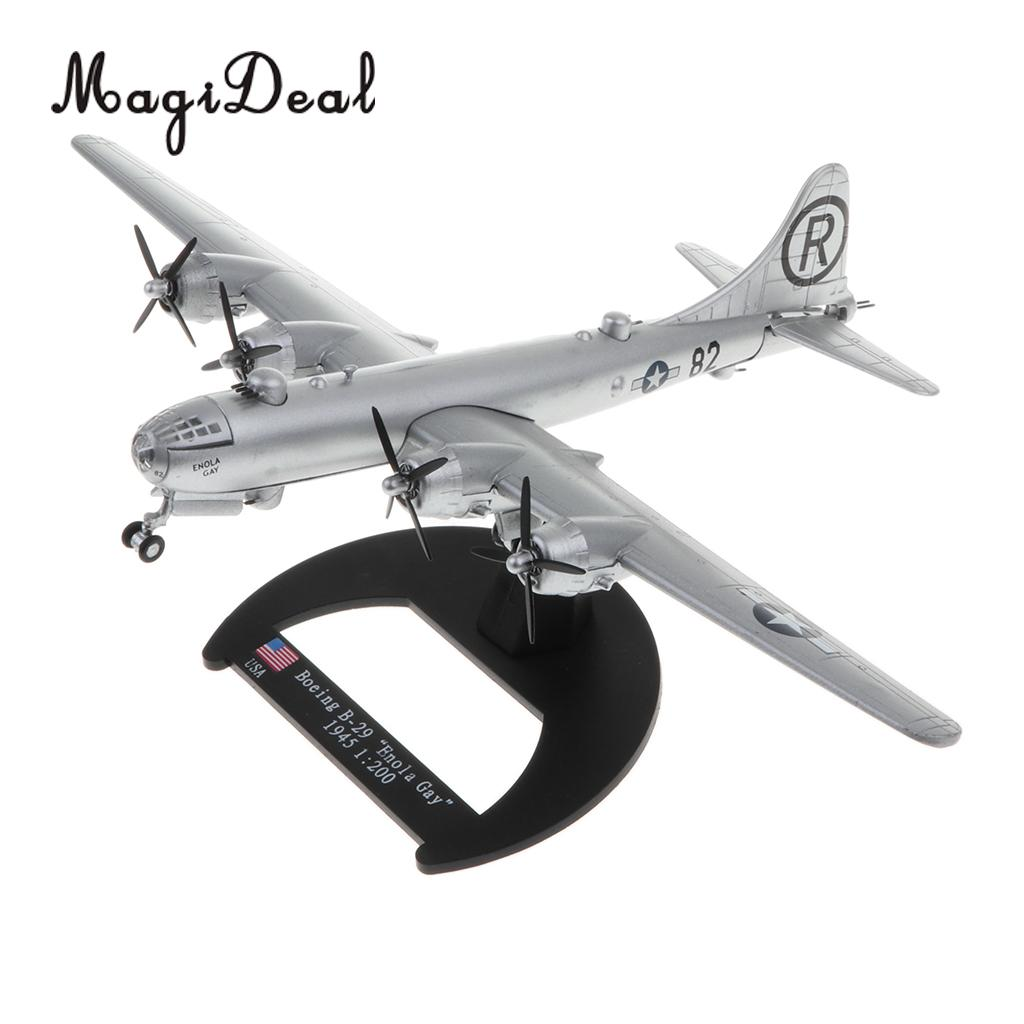 US $27 73 27% OFF|1/200 Diecast WWII US Boe ing B 29 Enola Gay Aircraft  Superfortress Bomber Warplane Model Airplane Toy Collectibles Home Decor-in