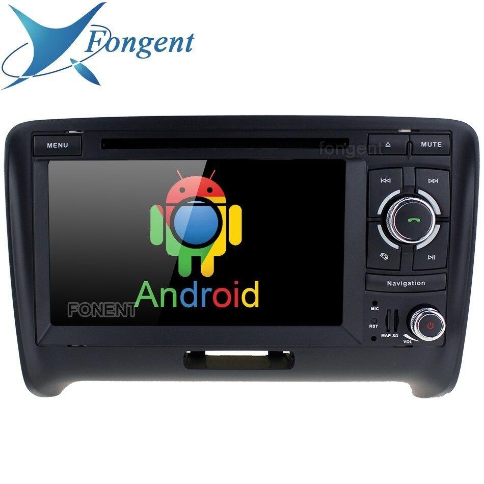 Voiture 2 DIN Radio DVD Android Lecteur Multimédia Pour Audi TT 2006 2007 2008 2009 2010 2011 2012 2013 Stéréo automatique Navigateur GPS