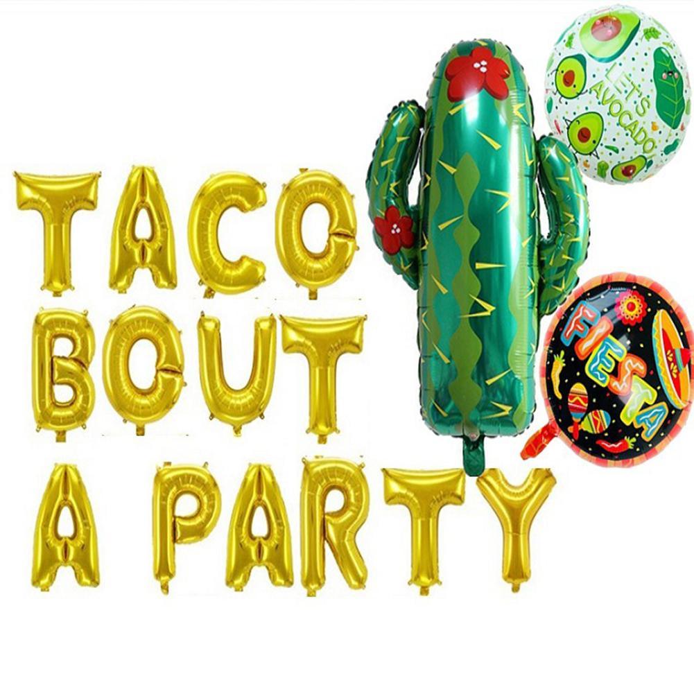 Cactus ballon Fiesta fête décorations désert anniversaire décor mexicain fête d'anniversaire fournitures Taco Bout une fête