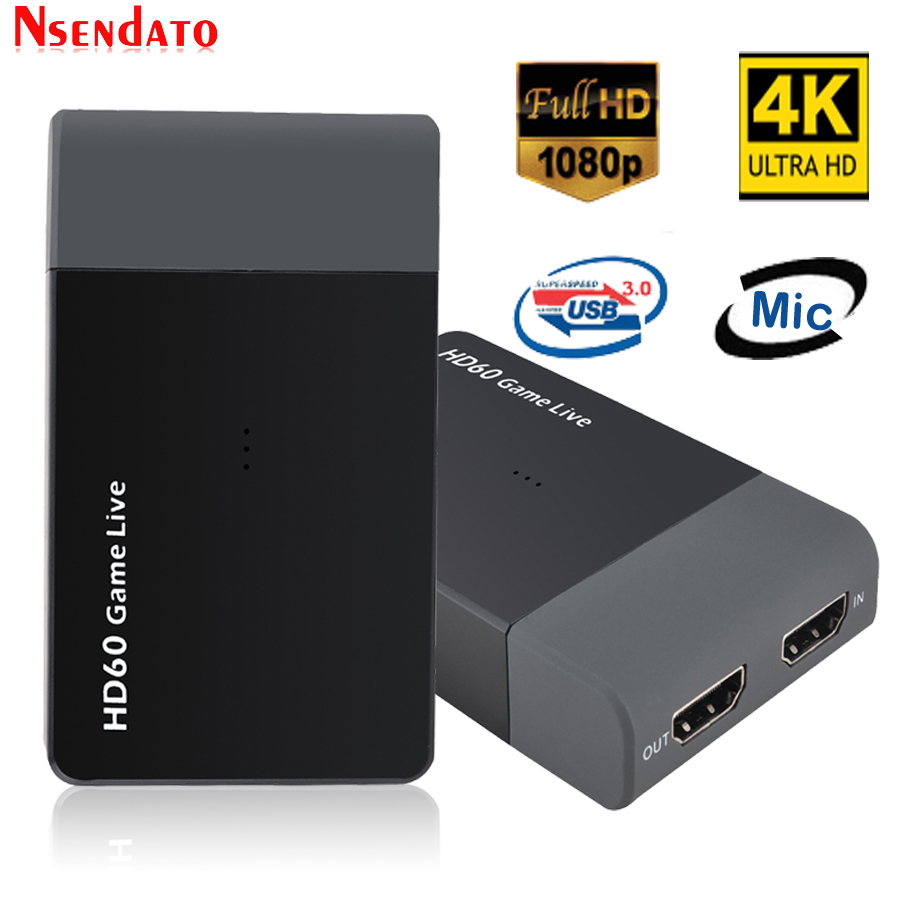 Ezcap261M USB3 0 HD60 Game Video Capture Adapter With Mic 1080P 4K Game Live Streaming Video