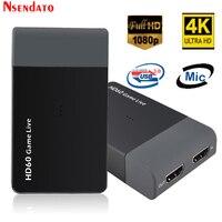 Ezcap261M USB3.0 HD60 игра захват видео адаптер с микрофоном 1080 P 4 К игры потоковым видео конвертер для xbox один PS4 PS3 HDTV