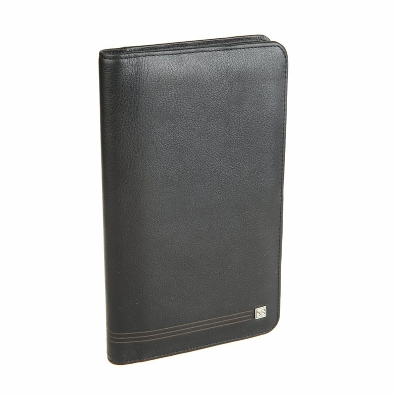 Business Card Holder Sergio Belotti 1308 West black large capacity card holder multifunctional wallet