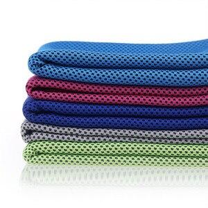 Image 2 - 2019 nowy gorący Sport lukier zimny ręcznik quicky dry natychmiastowy chłodny chłodzenie ręcznik siłownia ćwiczenia ręcznik ławka dla mężczyzn kobiety