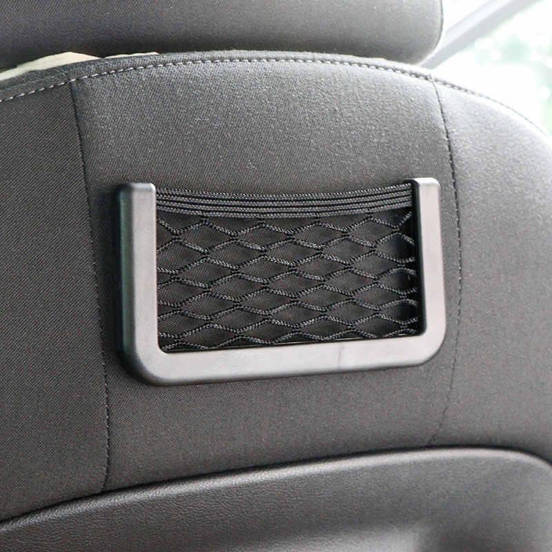 Onever универсальный маленький автомобиль сиденье боковая Задняя сумка для хранения Сетчатая Сумка сетчатый карман органайзер палка для кошелька телефон Сетчатая Сумка