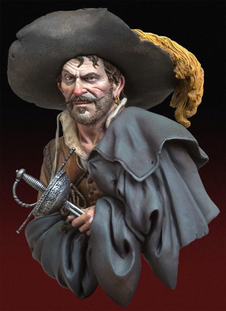 1/10 kit modelo de Resina busto O Saqueador, 1640 sem pintura e desmontado X169