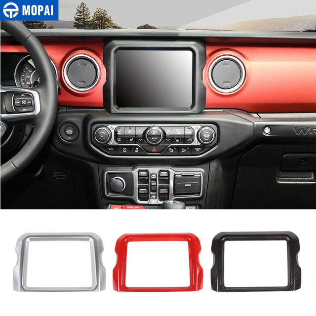 MOPAI 8.4 Inches Car GPS Navigation Decoration Frame Cover Stickers for Jeep Wrangler JL 2018+ for Jeep Gladiator JT 2018+
