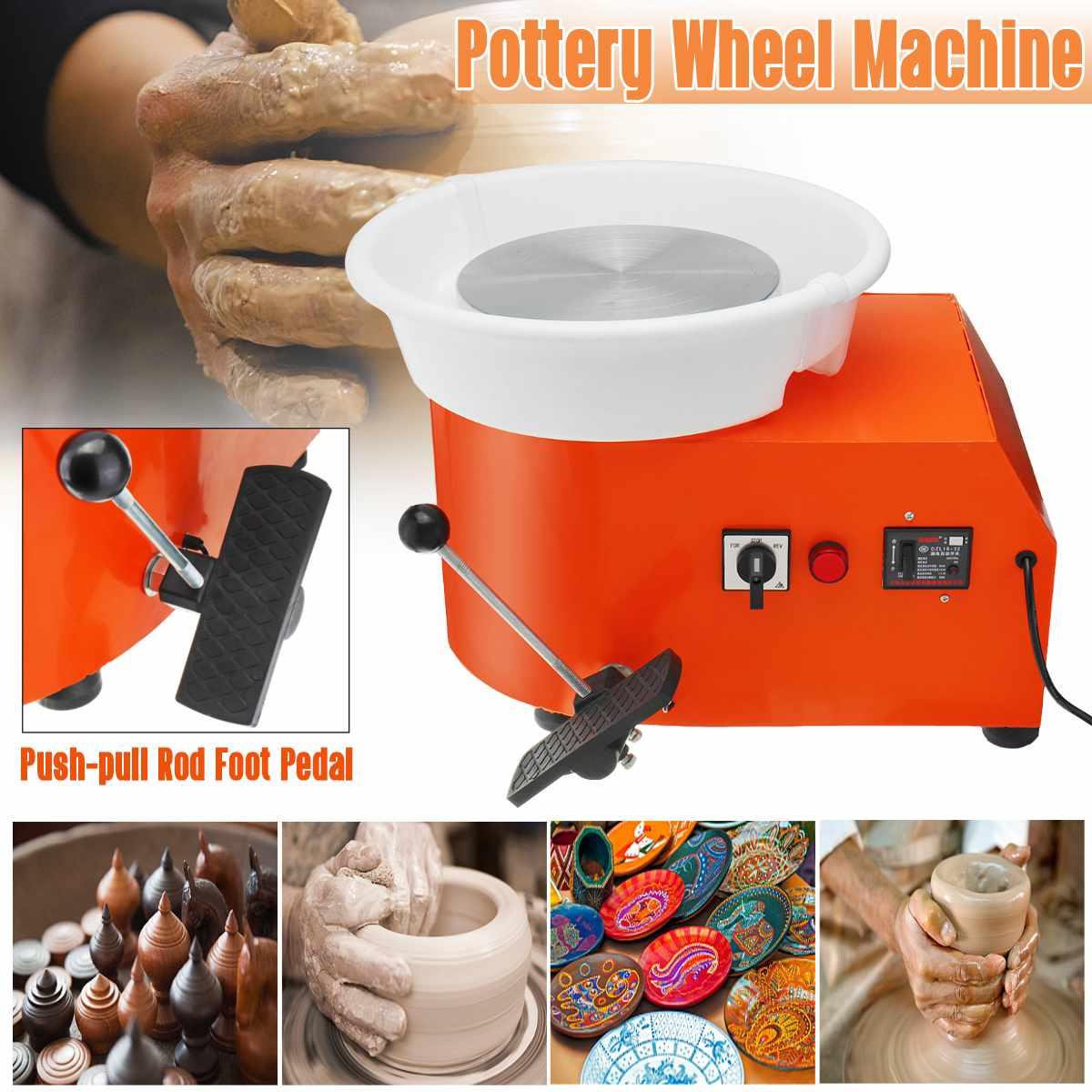 110/220 V 350 W poterie roue détachable Machine en céramique travail argile artisanat Art pied pédale US/AU/EU Plug Flexible détachable lisse - 2